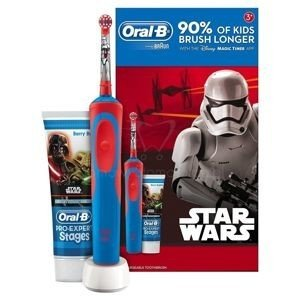 Szczoteczka Akumulatorowa Braun Oral-B  STAR WARS Advance Power D12.513K + PASTA DO ZĘBÓW Star Wars