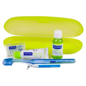 VITIS Kit Orthodontic (pasta 15ml + płyn30 ml + wosk + szcz. Interprox + szcz. Orthodontic Access) - zestaw ortodontyczny