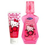 Hello Kitty zestaw pasta do zębów 75ml + płyn do płukania 237ml