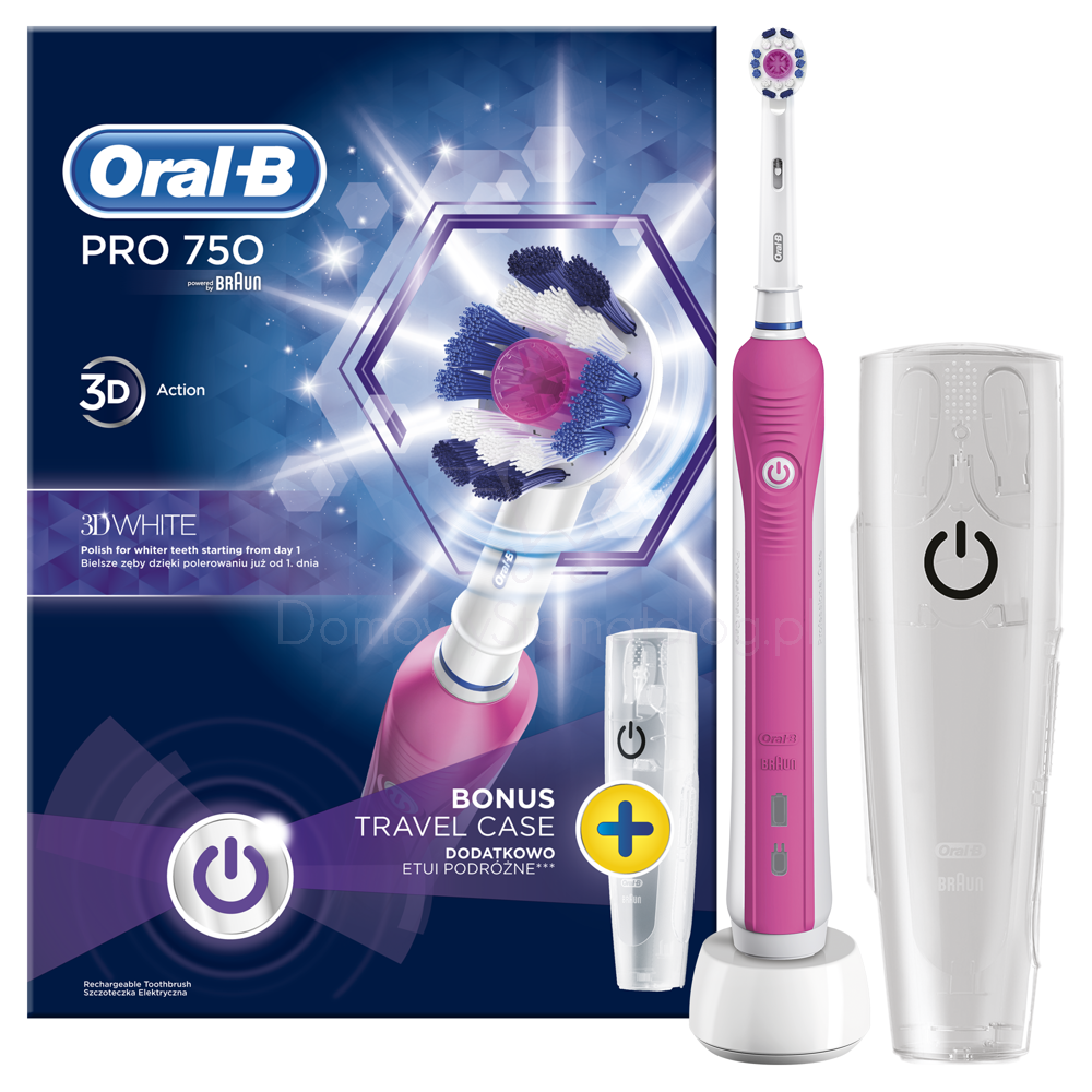 braun oral b szczoteczka elektryczna pro 750 pink. Black Bedroom Furniture Sets. Home Design Ideas